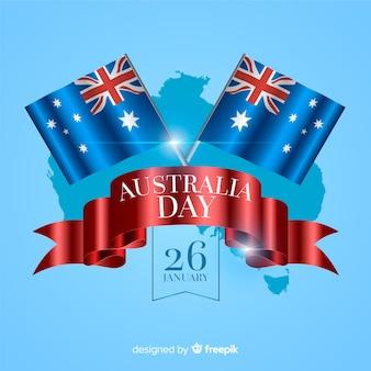 Realistische australië dag achtergrond