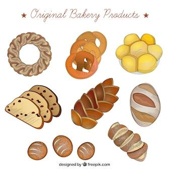 Realistische bakkerijproducten
