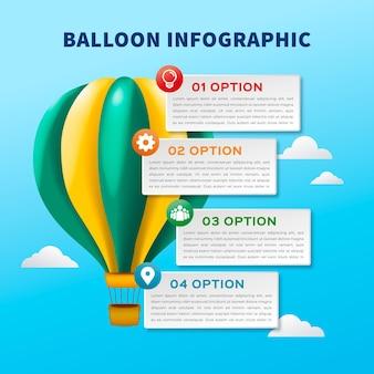 Realistische ballon infographic
