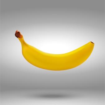 Realistische banaan geïsoleerd op wit