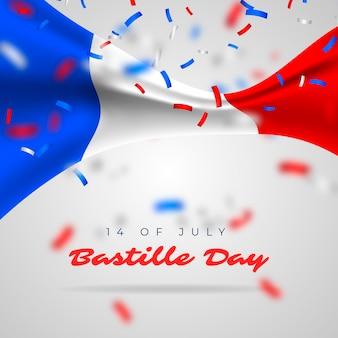 Realistische bastille-dag