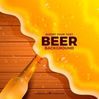 Realistische bierachtergrond