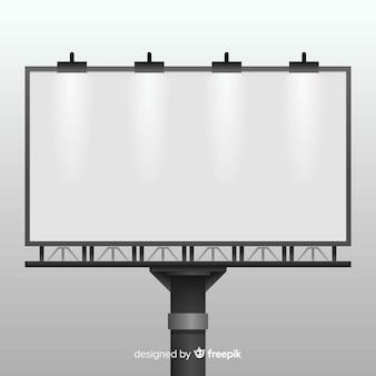 Realistische billboard achtergrond