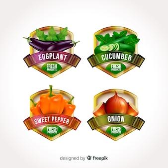 Realistische biologische voedingsetiketten