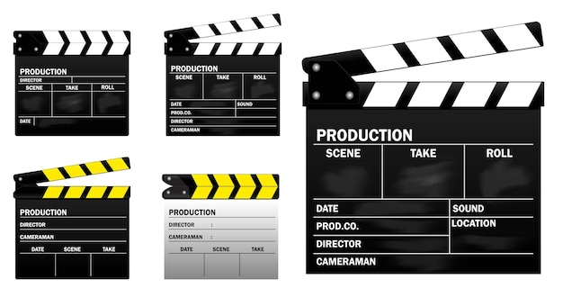 Realistische bioscoopklep geïsoleerd of filmstrip bioscoop 35 mm type