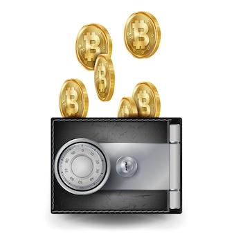Realistische bitcoin-portemonnee
