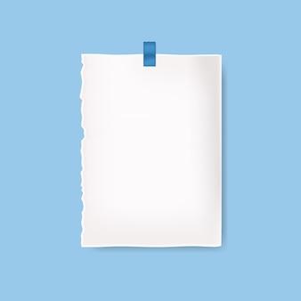 Realistische blanco papier achtergrond
