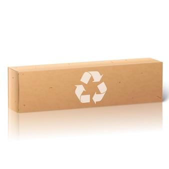 Realistische blanco papieren ambachtelijke pakketdoos voor langwerpige spullen tandpasta cosmetica medicijnen enz