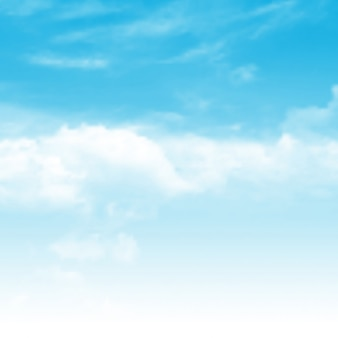 Realistische blauwe hemelachtergrond