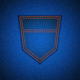 Realistische blauwe spijkerbroek met zak achtergrondbehang