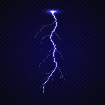 Realistische bliksemschicht krachtige staking