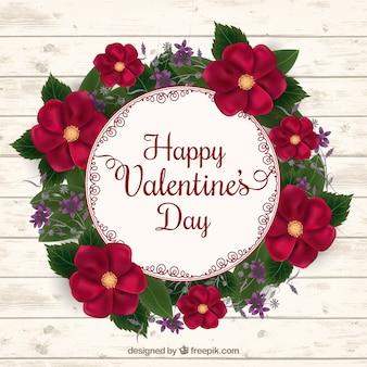 Realistische bloemenkroon voor valentijnsdag