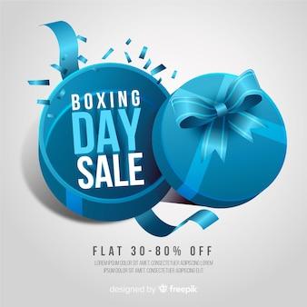 Realistische boksdag verkoop achtergrond