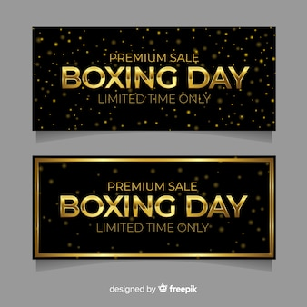 Realistische boksdag verkoop banners