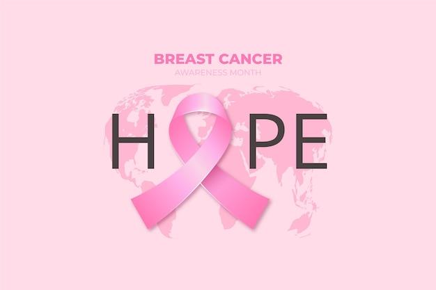 Realistische borstkanker bewustzijn maand achtergrond