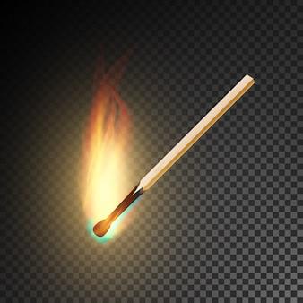 Realistische brandende lucifer