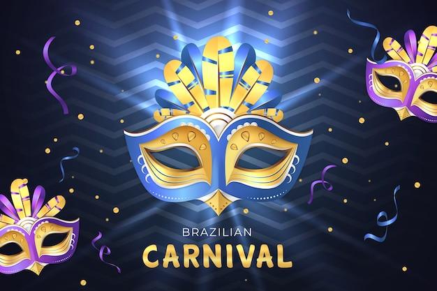 Realistische braziliaanse carnaval-achtergrond