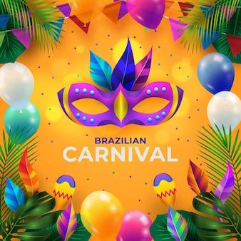 Realistische braziliaanse carnaval illustratie