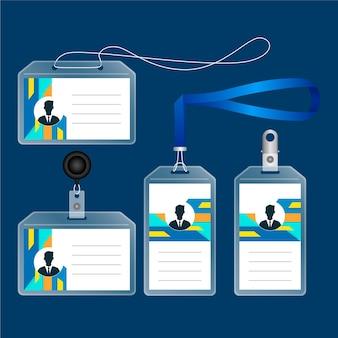 Realistische briefpapier set voor identiteitskaart
