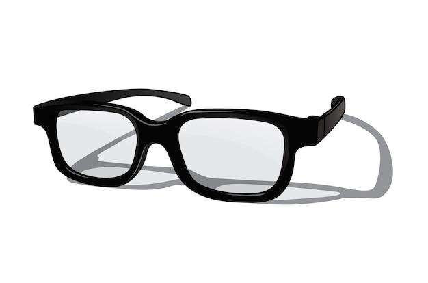 Realistische bril geïsoleerd op een witte achtergrond