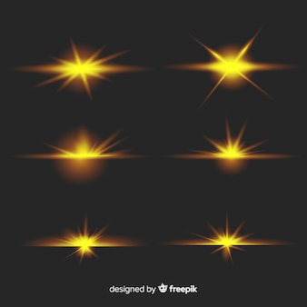 Realistische burst of light-verzameling
