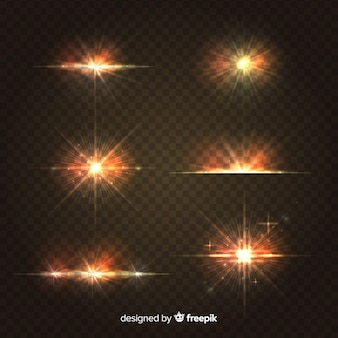Realistische burst van lichtcollectie