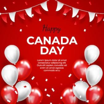 Realistische canadese dag illustratie
