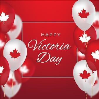Realistische canadese victoria day-illustratie
