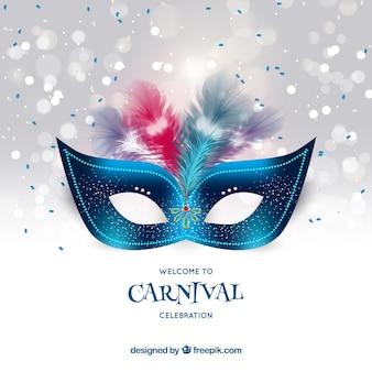 Realistische carnaval achtergrond