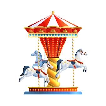 Realistische carrousel geïsoleerd