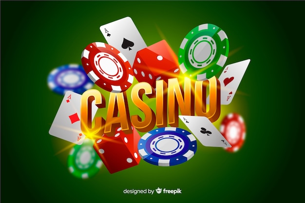 Realistische casino elementen achtergrond
