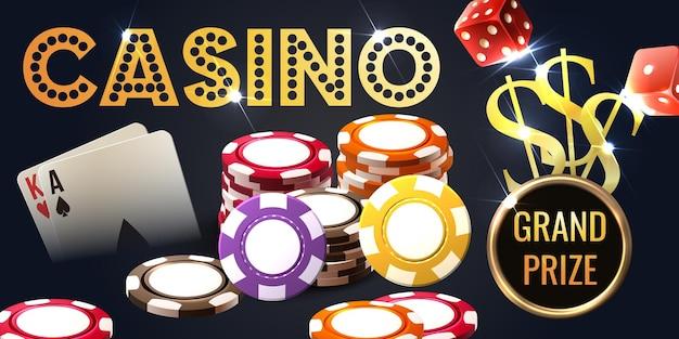 Realistische casino illustratie