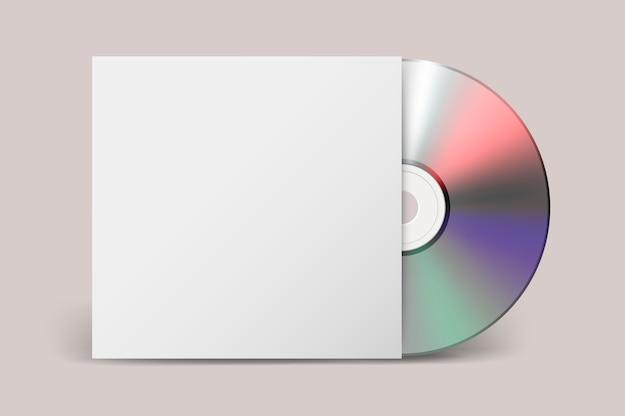 Realistische cd met hoespictogram. sjabloon.