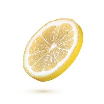Realistische citroen geïsoleerd op wit