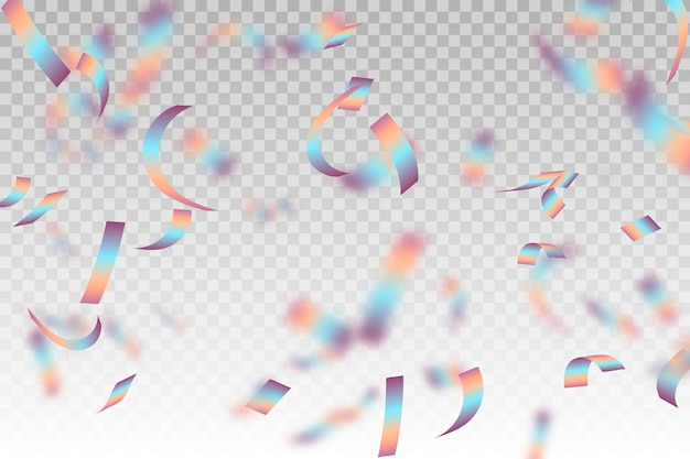 Realistische confetti achtergrondthema