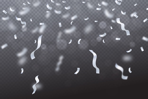 Realistische confetti wallpaper