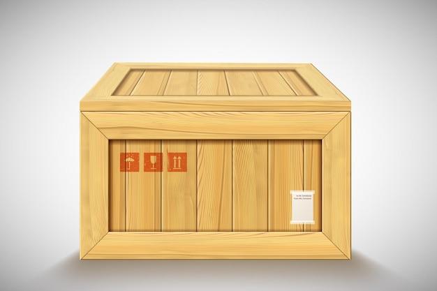 Realistische container op witte achtergrond met gesloten deksel