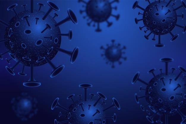 Realistische coronavirusachtergrond