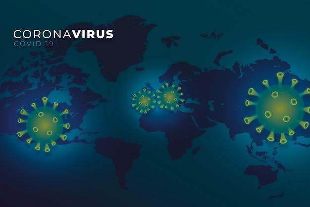 Realistische coronaviruskaart