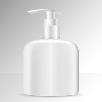 Realistische cosmetische fles. cosmeticapakket zeep