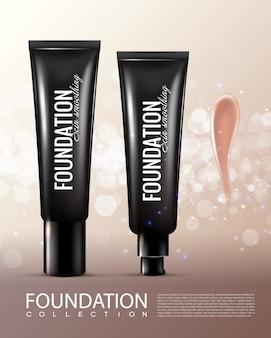 Realistische cosmetische productsjabloon