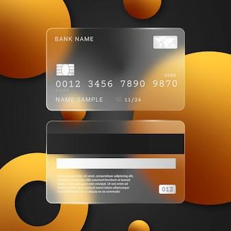 Realistische creditcard met glaseffect
