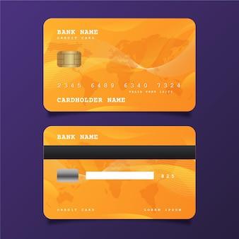 Realistische creditcardsjabloon
