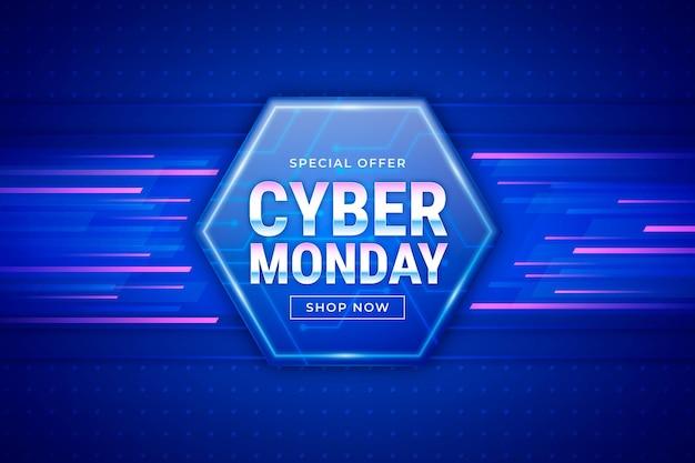 Realistische cyber maandag achtergrond