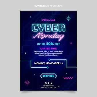 Realistische cyber maandag uitnodigingssjabloon