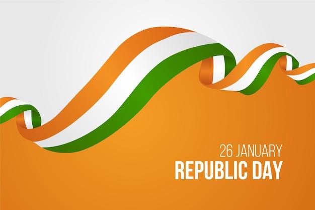 Realistische dag van de indiase republiek