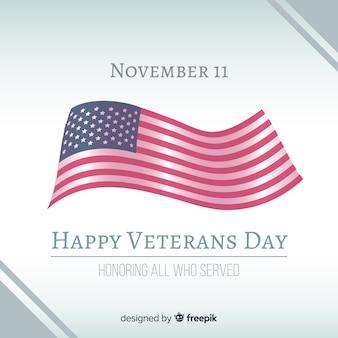 Realistische dag van de vlag veteran achtergrond