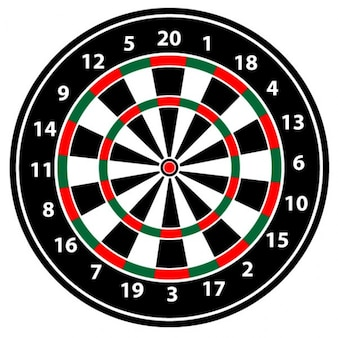 Realistische dartbord vectorillustratie