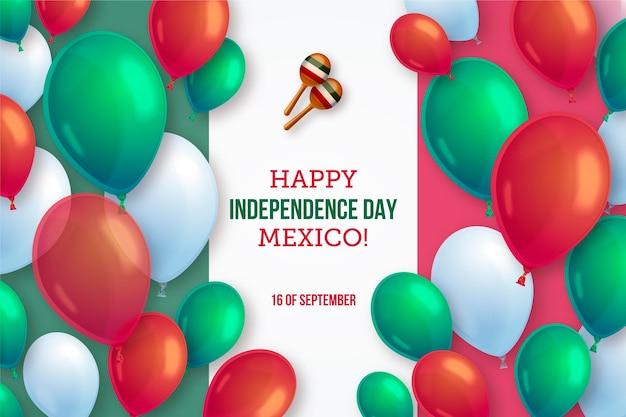 Realistische de onafhankelijkheidsdagballonachtergrond van mexico