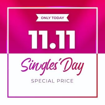 Realistische design singles 'day